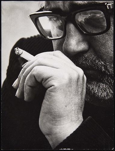 Retrato de Moreno Galván. Foto: Gigi Corbetta (1967). Archivo José María Moreno Galván. Centro de Documentación