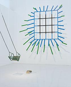 Vista de sala. Idea: Pintura Fuerza. En el gozne de los años 70 y 80, 2013