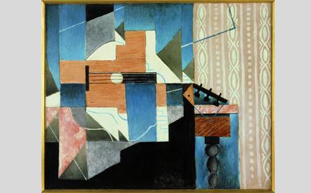 Juan Gris, La guitare sur la table [La guitarra sobre la mesa], 1913. Cortesía de Fundación Telefónica © Fernando Maquieira