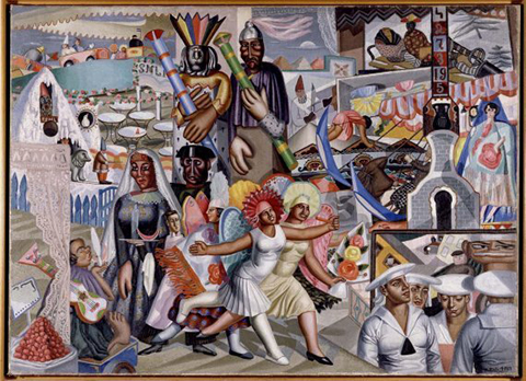 Maruja Mallo, La verbena, 1927, Museo Nacional Centro de Arte Reina Sofía