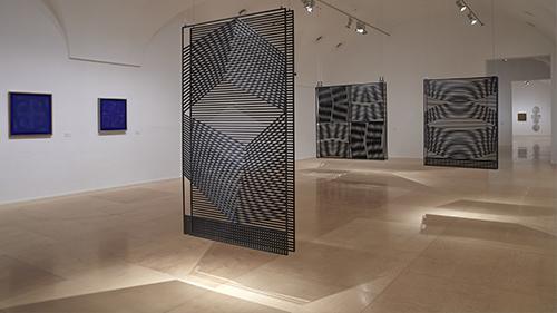 Vista de la exposición Eusebio Sempere, Museo Reina Sofía, 2018
