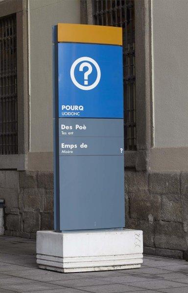 Rogelio López Cuenca. <em>Decret nº 1. POURQ/UOIDONC/Des Poè/Tes ent/Emps de/Misère//UNDWO/ZUDICHTER/Indurf/Tiger Zeit?</em>, 1992