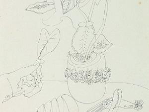 Raphael Domingues. Sin título, 1949 (detalle). Cortesía Museu de Imagens do Inconsciente