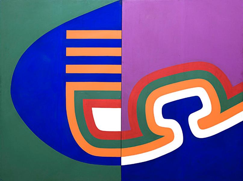 Mohamed Chabaâ, Composición, 1967. Colección Société Générale de Maroc