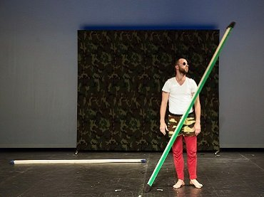 Steve Paxton. Bound. Performed by Jurij Konjar. Photograph by Nada Žgank
