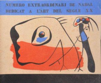 D'ací i d´allà, Portada del número extraordinario de Invierno. Imagen cubierta Joan Miró. Barcelona, 1934