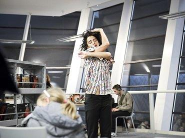 Raphaëlle Delaunay in 20 Dancers for the XX Century by Boris Charmatz / Musée de la danse at Les Champs Libres (FR), Rennes, 2012. Nyima Leray © Musée de la danse