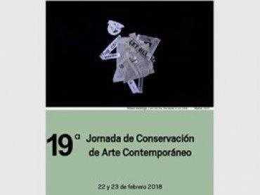 Cartel de la 19 Jornada de Conservación de Arte Contemporáneo