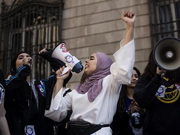Valeria Dranovsky. 8M demonstration, Women's International Strike, Barcelona, 2019