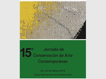 Cartel de la 15ª Jornada de Conservación de Arte Contemporáneo