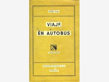 Viaje en autobús de José Pla. Portada de libro, primera edición, 1942