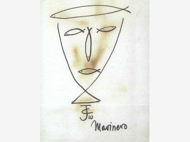 Josep Campanals (heterónimo de Max Aub). Marinero. Dibujo, 1958