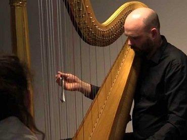 Rhodri Davies. Eliane Radigue: Occam I. Concert, 2014