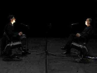 Mattin y Miguel Prado. Evacuación de la voz. Performance, 2014
