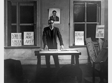 Henry Flynt delivering his lecture From Culture to Veramusement, Walter De Maria's loft, New York, February 28, 1963. Photograph by Diane Wakoski. Courtesy Henry Flynt