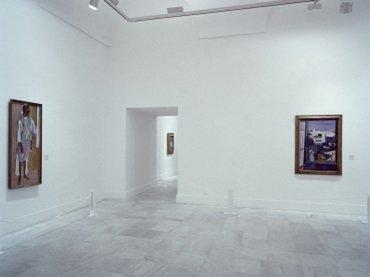 Vista de sala de la exposición. Henri Matisse. Pinturas y dibujos de los museos Pushkin de Moscú y el Ermitage de Leningrado, 1988