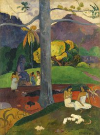 Paul Gauguin. Mata Mua (Erase una vez),1892. Óleo sobre lienzo. Colección Carmen Thyssen-Bornemisza en depósito en el Museo Thyssen-Bornemisza, Madrid