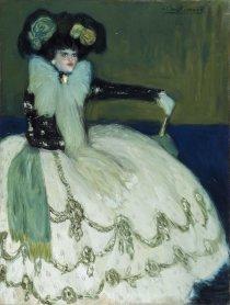 Pablo Picasso. Mujer en azul, 1901. Painting. Museo Nacional Centro de Arte Reina Sofía Collection, Madrid