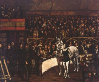 José Gutiérrez Solana. El circo, ca. 1917-1920. Painting. Museo Nacional Centro de Arte Reina Sofía Collection, Madrid