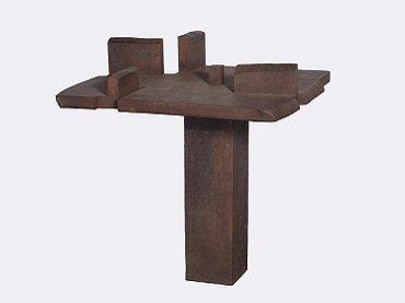 Eduardo Chillida. La mesa de Giacometti, 1988. Sculpture. Museo Nacional Centro de Arte Reina Sofía Collection, Madrid