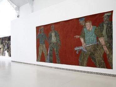 Vista de sala de la exposición. Leon Golub, 2011