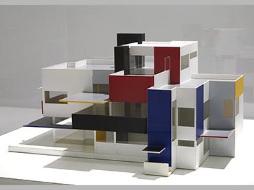 Vista de la exposición Mondrian y De Stijl, 2020