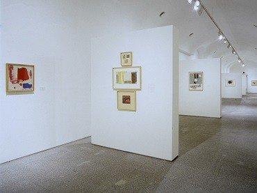 Vista de sala de la exposición. Esteban Vicente. Obra 1950-1998, 1998