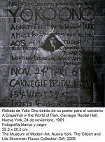 Yoko Ono (Nueva York, 24 de noviembre, 1961)