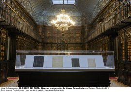 Vista de la exposición El poder del Arte en el Senado