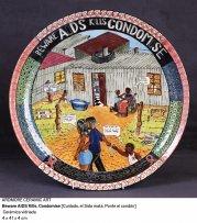 Ardmore Ceramic Art Beware AIDS Kill. Condomise