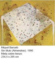 Miquel Barceló, Sin título (Almendras), 1990