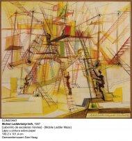 Laberinto de escaleras móviles. Lápiz y pintura sobre papel, 1967