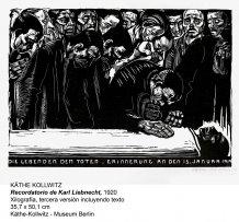 Käthe Kollwitz Recordatorio de Karl Liebnecht. 1925