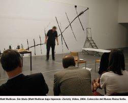 Matt Mullican. Sin título -Matt Mullican bajo hipnosis Zurich- Vídeo, 2004