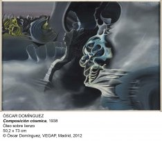 Óscar Domínguez. Composición cósmica, 1938. Óleo sobre lienzo. 50,2 x 73 cm. © Óscar Domínguez, VEGAP, Madrid, 2012