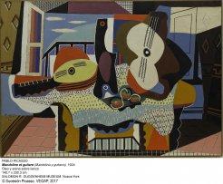 Mandolina y guitarra.1924. Pablo Picasso.