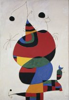 Miró. Mujer, pájaro, estrella. Homenaje a Pablo Picasso, 1973. Óleo sobre lienzo. 245 x 170 cm. Museo Nacional Centro de Arte Reina Sofía