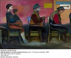 Waiting Room I, The Queue Continues,1956. Andrzej Wróblewski