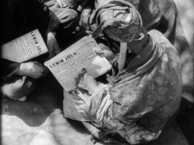 Dziga Vertov. La nana [Kolibel'naja]. Película, 1937.  Cortesía del Austrian Film Museum \ De la Colección especial Dziga Vertov