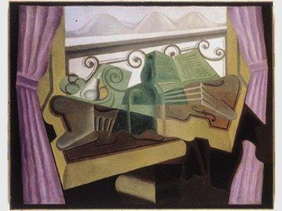 Juan Gris, La fenêtre aux collines (Ventana abierta con colinas), 1923. Imagen, Cortesía de Fundación Telefónica © Fernando Maquieira