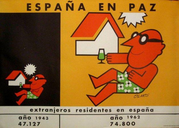 Grupo 13 / Olmos, Extranjeros residentes en España. Serie España en paz, 1964. Cortesía de Ignasi Solé