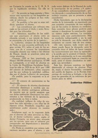 """Ludovico Fillieu, """"El aborto, plaga social"""", Orto: revista de documentación social, n.º 7, septiembre de 1932. Valencia: Tip. Quiles, 1932-[1934]. Biblioteca Digital memoriademadrid. Fundació Josep Renau - València"""