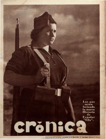 Contraportada de Crónica: revista de la semana, 6 de diciembre de 1936. Madrid: Prensa Gráfica, [1929-1939]. Imágenes procedentes de los fondos de la Biblioteca Nacional de España 