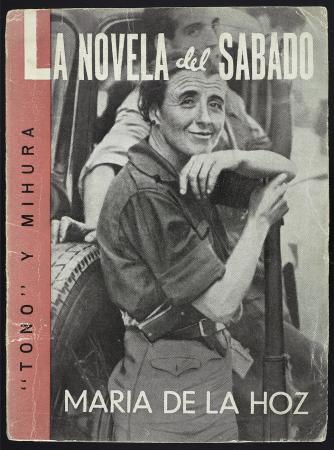 Tono y Mihura (Antonio de Lara y Miguel Mihura), María de la Hoz. Madrid: Ediciones Españolas, 1939, (Fotografía de Piortiz). Fondos del Centro de Documentación del MNCARS