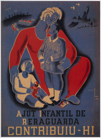 Joaquim Martí Bas, Contribuiu-hi, Ajut infantil de reraguarda, 1937. Imagen cedida por Postermil