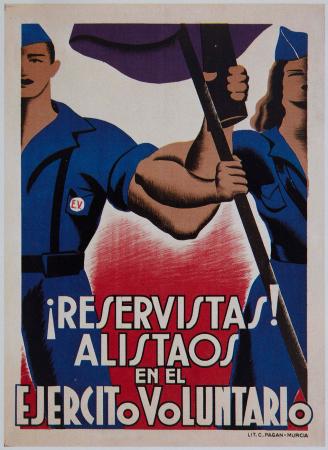 Anónimo, ¡Reservistas! Alistaos en el Ejército Voluntario, 1936. Imagen cedida por Postermil
