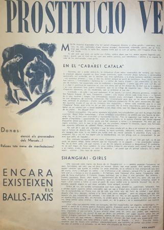 """Aida Martí, """"Prostitució, vergonya del mon"""", Companya, n.º 10, 1 de septiembre de 1937. Barcelona: Unió de Dones de Catalunya, 1937-1938. Archivo Ibán Ramón"""