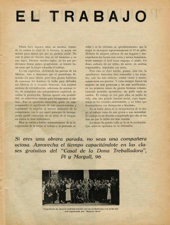 """Pilar Grangel, """"En vez de crítica, soluciones"""", Mujeres libres, n.º 13, mayo de 1938. Madrid / Barcelona: Mujeres Libres, 1936-1938. Imágenes cedidas por la Confederación General del Trabajo – CGT. Con la colaboración de la FAL y la CNT"""