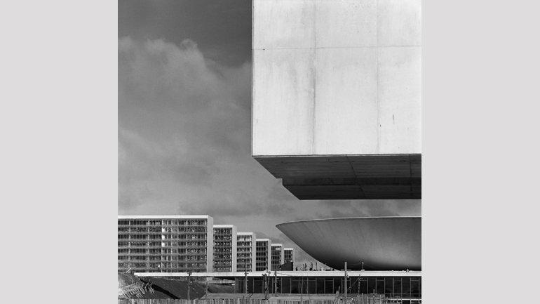 Detalle de la construcción de Brasilia. Fotografía, 1959