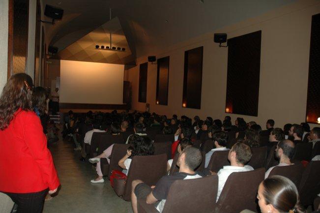Imagen del auditorio del edificio Sabatini durante las ponencias